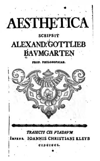 Aesthetica de Alexander Gottlieb Baumgarten. Fuente: Wikipedia
