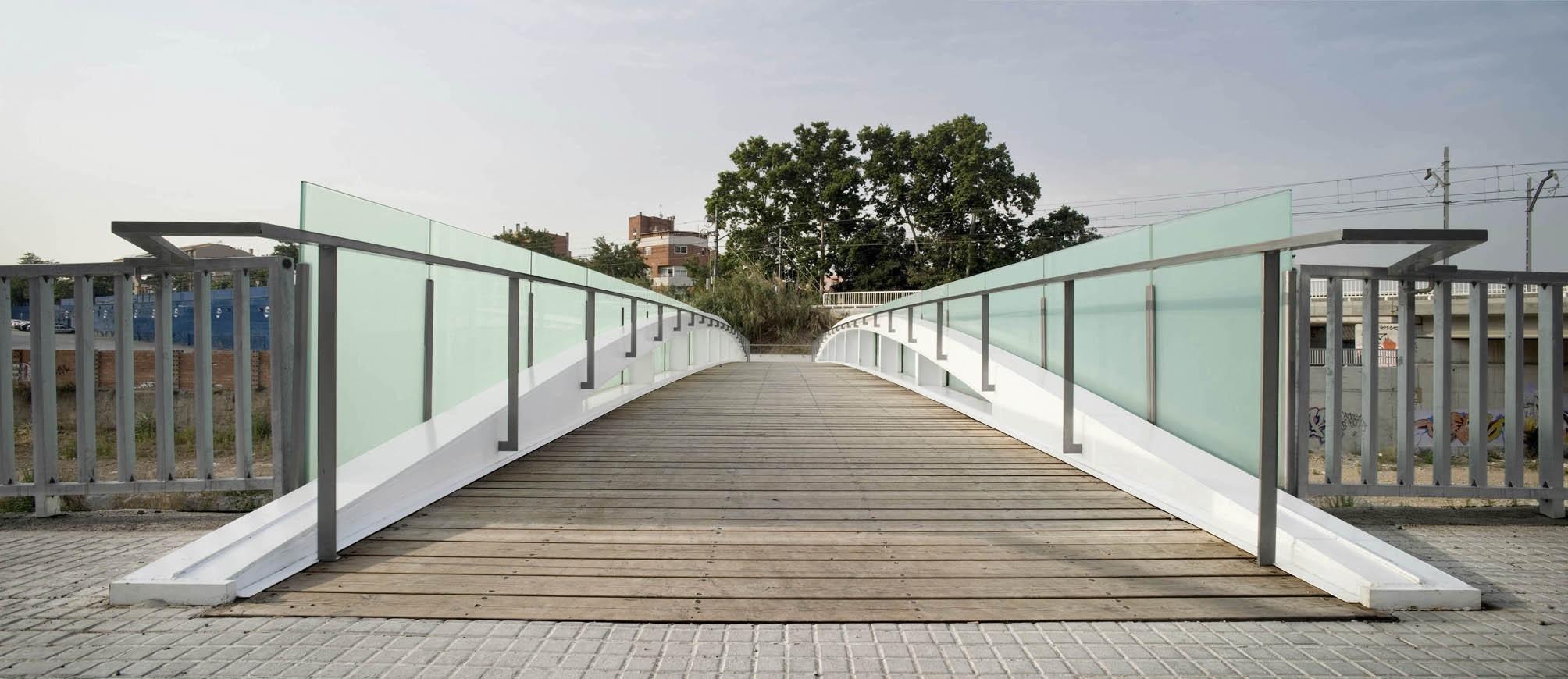 Pasarela de Fontetes, Cerdanyola del Vallès. Fuente: Enginyeria Reventós, SL.