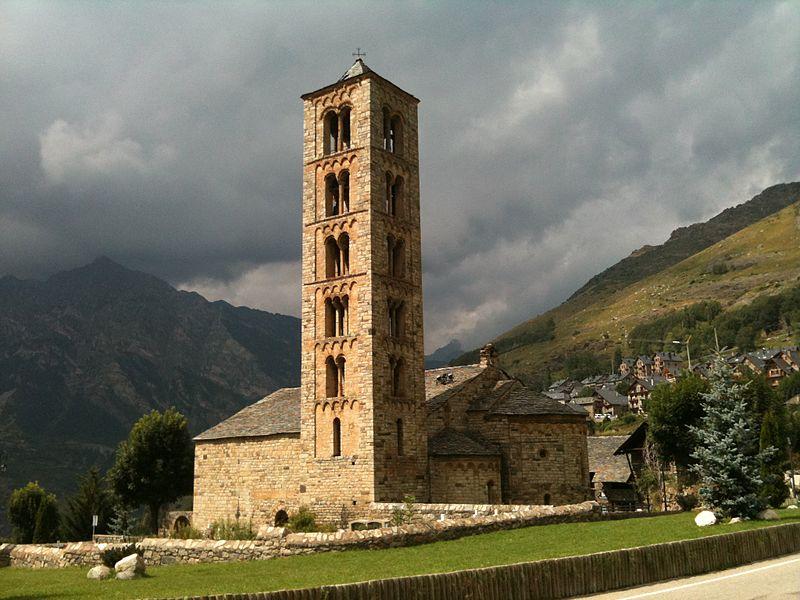 Iglesia románica de Sant Climent de Taüll. Fuente: Wikipedia