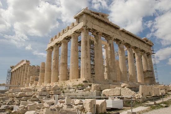 El Partenón, Acrópolis de Atenas. Paradigma de belleza clásica.  Fuente: Wikipedia