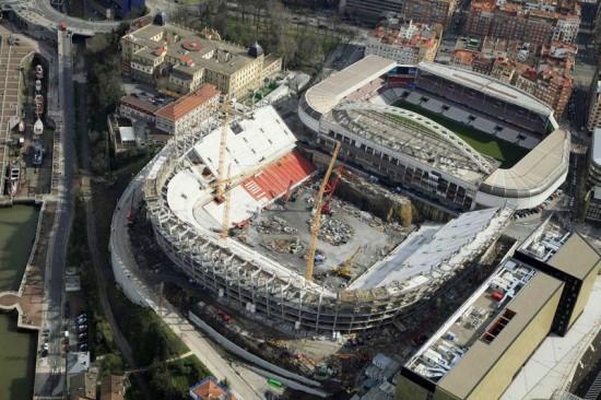 Obras del estadio de San Mamés Fuente: