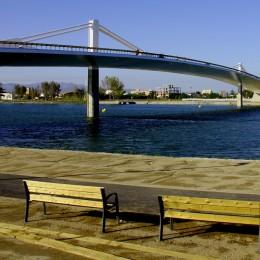Vista del Puente Lo Passador, Delta del Ebro. Foto de Javier Bueno.