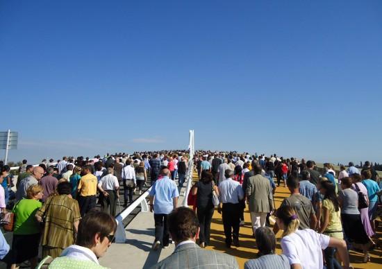 Inauguración del Puente Lo Passador, Delta del Ebro (30/09/2010). Foto de Javier Bueno.