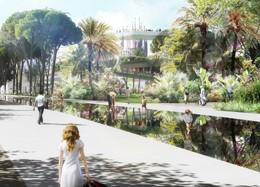 Propuesta ganadora del concurso de la Plaza de las Glòries Catalanes