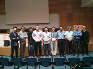 Foto de los ganadores de los premios dobooku, el jurado y la organización