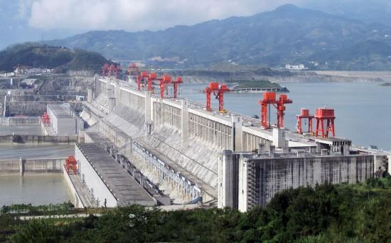Presa de las tres Gargantas (Río Yantze - China). Fuente: Wikipedia