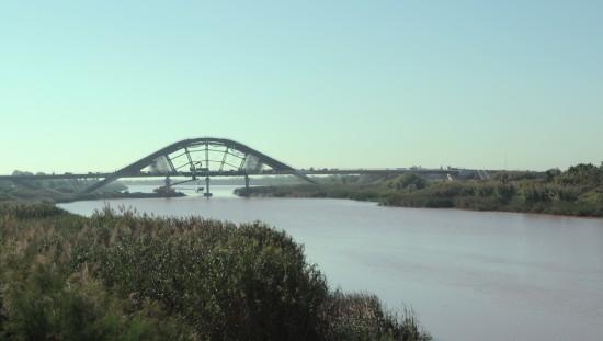 Visita a la obra del Puente de la Gola del Llobregat