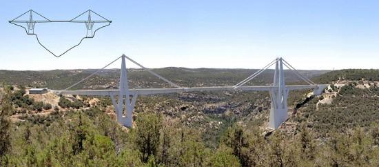 Fuente: Faye & Steve (fayeandsteve.com/Libya Other sights/) + Highest Bridges (http://www.highestbridges.com/wiki/index.php?title=Wadi_Kuf_Bridge)