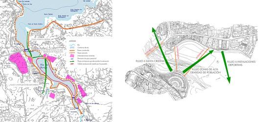 Estudio de para el establecimiento de la sección de cruce de una pasarela peatonal
