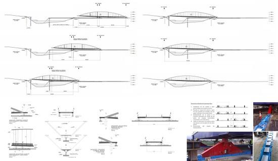 Es básico analizar la repercusión del sistema de ejecución en la estructura general y su compatibilidad con ella (procedimiento constructivo de una pasarela peatonal mediante lanzamiento utilizando skid-shoes | diseño de Héctor Beade en Arenas & Asociados | asistencia en el proceso constructivo de VSL Heavy Lifting).