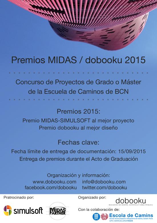 Cartel de los Premios MIDAS-Simulsoft / dobooku 2015