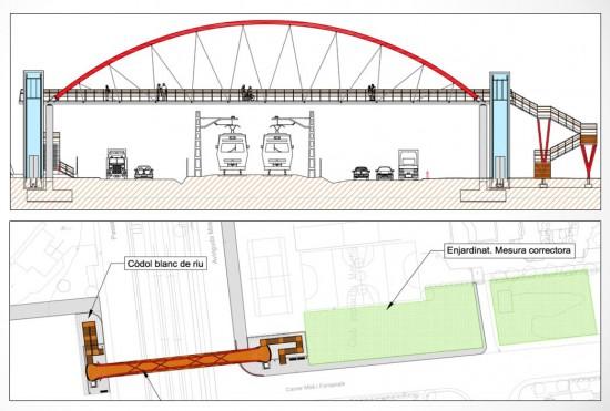 Proyecto finalista de los Premios dobooku 2015: Passarel·la metàl·lica sobre la línia ferroviària al terme municipal de Calafell. Autor: Ricard Caus Elias.