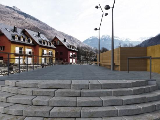 Proyecto ganador de los Premios dobooku 2015: Passarel·la per a vianants sobre el riu Garona al municipi de Les (Val d'Aran). Autor: Anna Blanch Orteu.