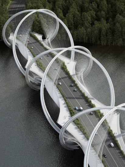 Infografía general del puente San Shan. Fuente