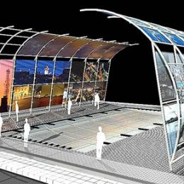 Diseño de un stand en estructura metálica. Concurso de estudiantes